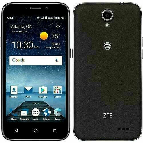 "Android Phone - ZTE Maven 3 z835 AT&T Unlocked GSM 4G LTE 8GB Android 5"" Smartphone Black Used m"