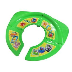 Travel folding potty seat with Sesame Street characters