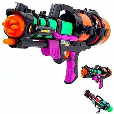 Big Super Water Pistol Shoot Soaker Squirt Games Water Gun Pump Action