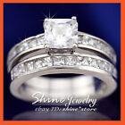 White Gold Engagement & Wedding Ring Sets with Gemstones