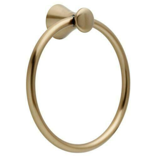 NEW! Delta Lahara 73846-CZ Towel Ring in Champagne Bronze
