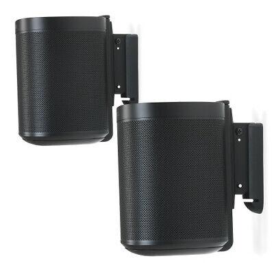 Flexson Wall Mounts for Sonos One - Pair (Black). Authorized Dealer!