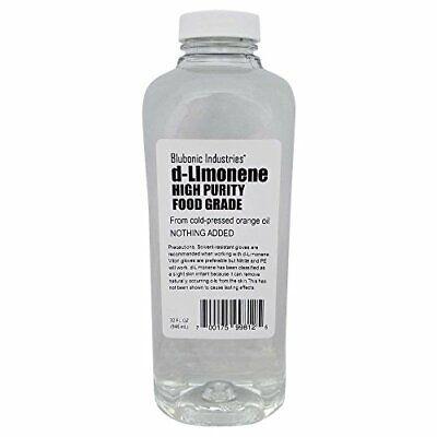 High Purity Orange Oil d-Limonene Food Grade Solvent Cleaner Degreaser 32oz