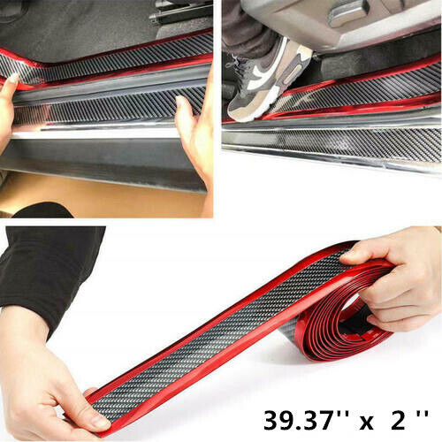 Car Parts - Car Sticker Rubber Protector 5D Carbon Fiber Molding Door Sill Accessories Parts