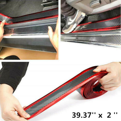 Car Parts - Car Sticker 5D Carbon Fiber Molding Door Sill Rubber Protector Parts Accessories