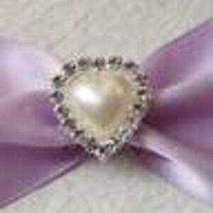 10 x Diamante Cluster Ivory Pearl Flat Back - Heart