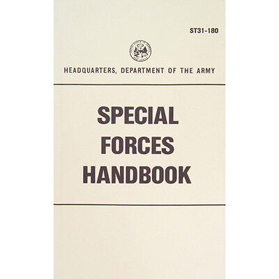 """New Army """"SPECIAL FORCES HANDBOOK"""" ST31-180 200 Pages"""