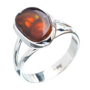 Fire Agate Ring Ebay