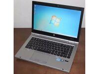 HP Elitebook 8460p laptop 8gb ram Intel 2.6ghz x 4 Core i5 - 2nd gen processor