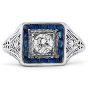 Art Deco Sapphire Engagement Ring