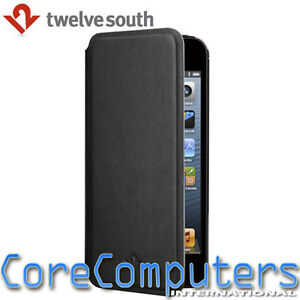 Twelve South SurfacePad for Apple iPhone 5 Black Slim Cover Case Nappa Leather
