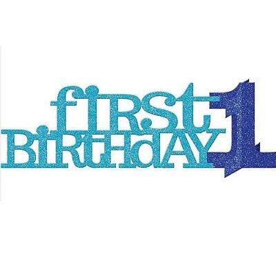 1st BIRTHDAY BOY 3D GLITTER CENTERPIECE ~ First Party Supplies Decorations (1st Birthday Boy Centerpiece)