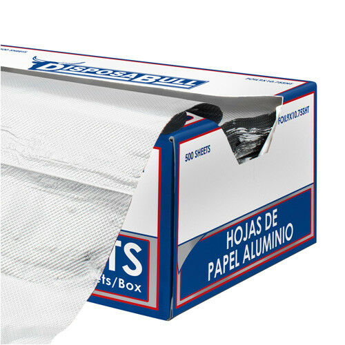 Value Series FOIL9.10SHT Pop-Up Aluminum Foil Wrap Sheets, Box of 500