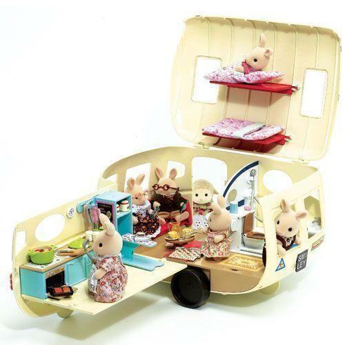 sylvanian families caravan houses miniatures ebay. Black Bedroom Furniture Sets. Home Design Ideas