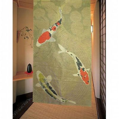 JAPANESE Noren Curtain NEW KOI FISH 151-12993 (Noren Koi)