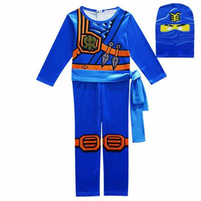 Jungen Kinder Kostüm Ninjago Kai Jay Lloyd Cosplay Einteiler Bodysuit OveralI-18