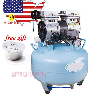 30l Silent Noiseless Oilless Air Compressor Machine For Dental Chair Unit Gift