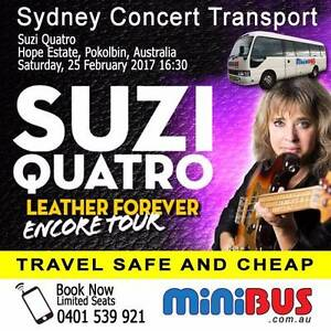 Suzi Quatro - Sydney <> Hope Estate Concert Transport Sydney City Inner Sydney Preview