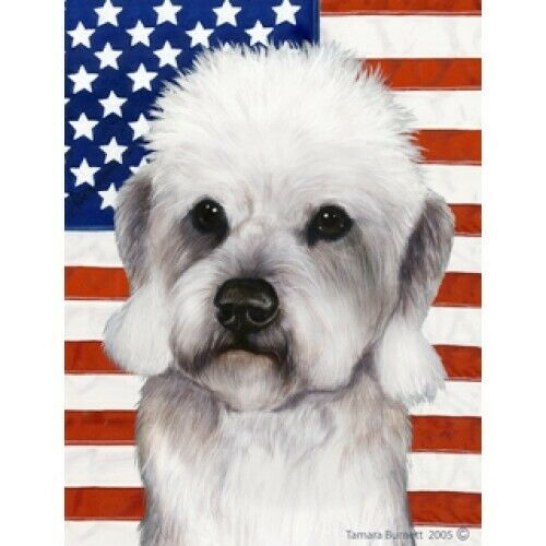 Patriotic (D2) Garden Flag - Pepper Dandie Dinmont Terrier 322111
