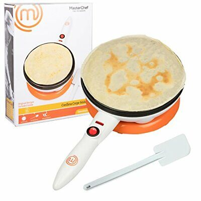 MasterChef Cordless Crepe Maker with FREE Recipe Guide- Non-