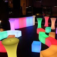 Alberta Cubed Rentals - LED party seating, bar & decor!