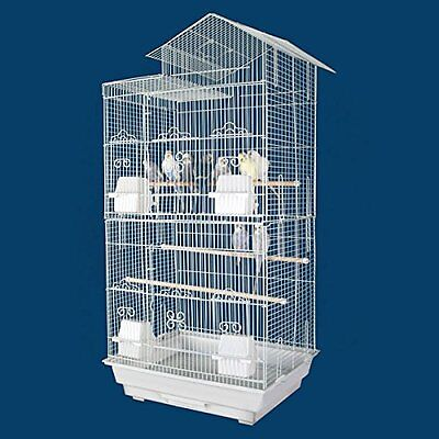 "35"" Large Canary Parakeet Cockatiel LoveBird Finch Bird Cage 1702H White 123"