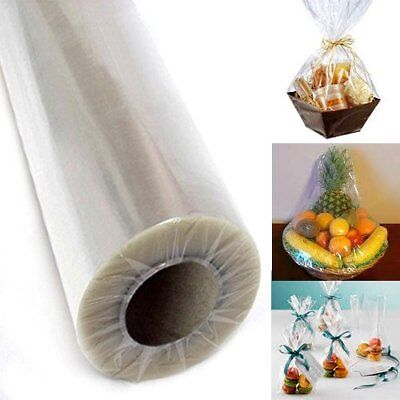 Clear Cellophane Wrap (Clear Cellophane Wrap Roll EASTER Gift Baskets Wrapping Paper 40