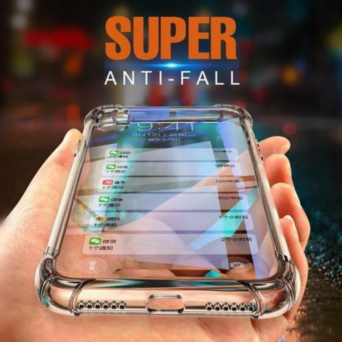 For iPhone XS/X Clear Transparent Shockproof TPU Bumper Case Cover Cases, Covers & Skins