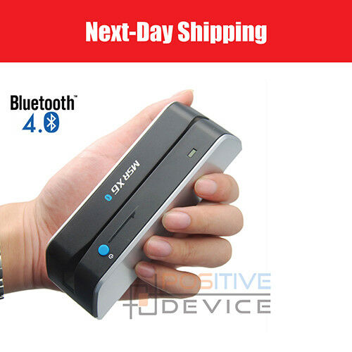 Bluetooth MSR X6BT Mini Magnetic Stripe Card Reader Writer Encoder Mag TK