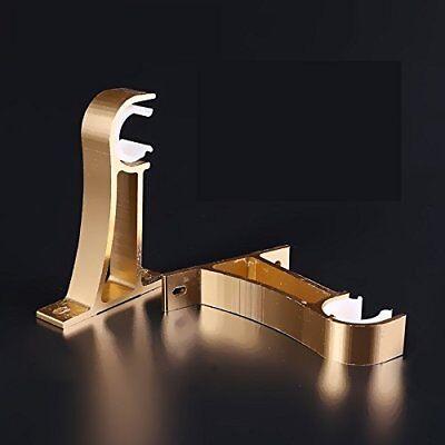 """Self Lock Drapery Curtain Rod Wall Mount Bracket 2pcs gold 25mm/ 1""""-32mm/ 1-1/4"""""""