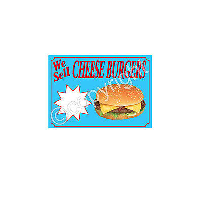 CHEESE BURGER STICKER for catering trailer