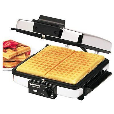 Best Black Decker Large Big Eco Classic Ceramic Thin Double Waffle Maker Kit