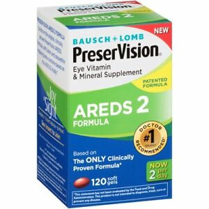 BAUSCH+LOMB PRESERVISION AREDS 2 EYE VITAMIN & MINERAL SUPPLEMENT 120 Soft Gels