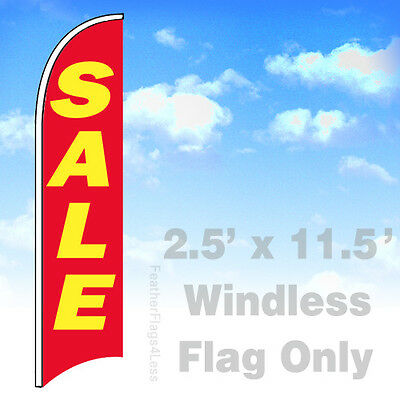Sale - Windless Swooper Flag Feather Banner Sign 2.5x11.5 - Rb