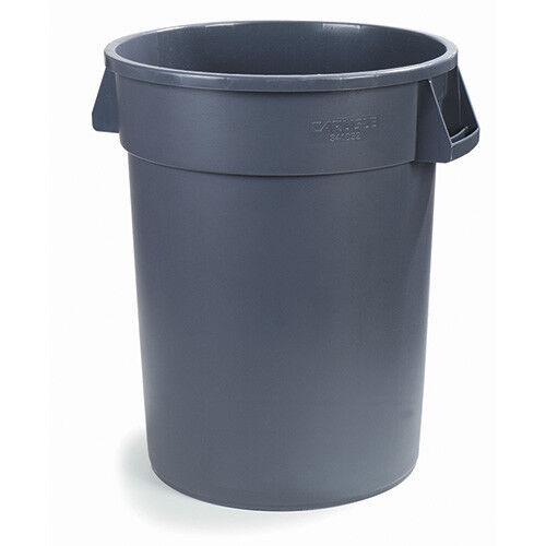 Carlisle 34104423 Round Waste Container - 44 Gallon Cap., Gray