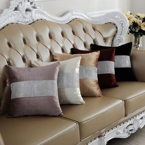 Vintage Soft Diamond Velvet Throw Pillow Case Cushion Cover