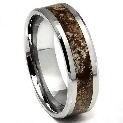 Tungsten Carbide Mens Earth Riverstone Print Wedding Band Ring Never Tarnish M64