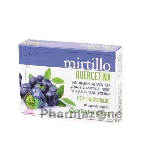 FARMADERBE Mirtillo e Quercetina – 30 capsule