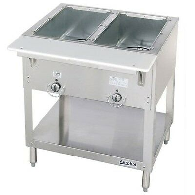 New 2 Well Lp Propane Steam Table Dry Bath Duke 302-lp Commercial 5937 Aerohot
