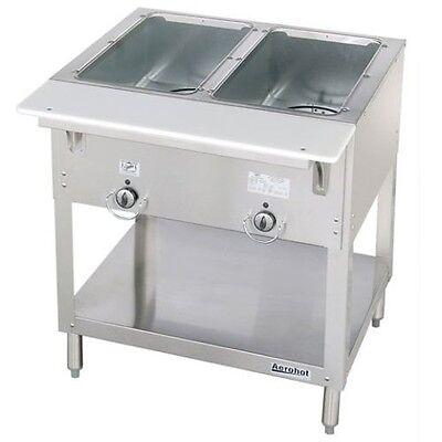 New 2 Well Lp Propane Steam Table Dry Bath Duke 302-lp Commercial 5937 Aerohot