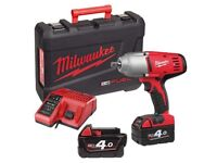 Milwaukee Cordless Impact Gun 4ah M18 HD18HIWF-402C * Tools *