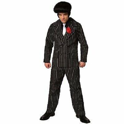 Mens Mafia Gangster Suit Criminal Halloween Costume Plus Size 3 Piece - Mens Mafia Costume