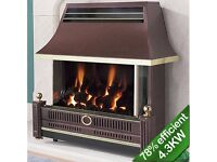 FLAVEL RENOIR BRONZE GAS FIRE USED BUT EXCELLENT CONDITION RETAIL AT £589 BARGAIN AT £75