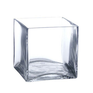 12 Pack 4 Inch Square Glass Vases Cube Vase 4 Quot 4x4x4