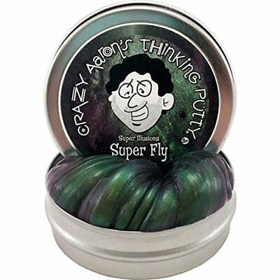 Crazy Aarons Thinking Putty Super Fly Super Illusions Putty  Mini 2  Tin New