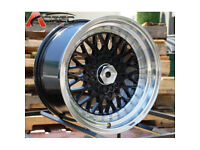 "BBS RS style brand new Alloy wheels 16"" inch x 9j alloys wheel 4x100 VW Volkswagen jetta passat polo"