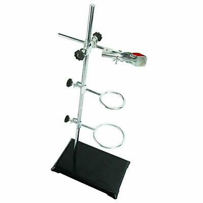 Lab Metalware Setsupport Stand 8x5 Rod 50cm Retort Ring 6cm And 8cm In Dia.