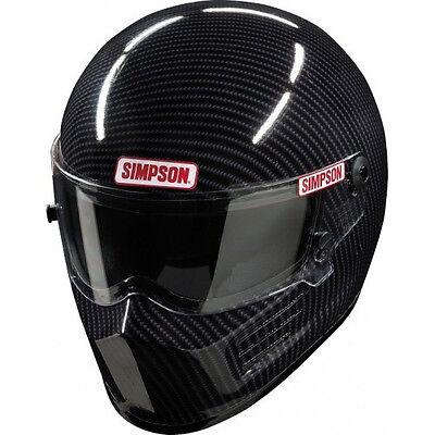 SIMPSON RACING CARBON BANDIT HELMET MD #620002C-F SA2015 SFI FIA HEAD/NECK READY