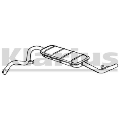 1x KLARIUS OE Quality Replacement Rear / End Silencer Exhaust For LADA Petrol