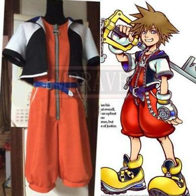 Kingdom Hearts 1 Sora Cosplay Costume Adult Halloween Custom Movie - Adult Halloween Custom